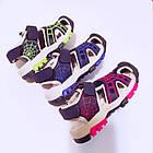Сині спортивні сандалі з гумовим захисним носком від «Сонце» хлопчикам, р. 26, 27, 28, 29, 31, фото 9