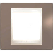 Рамка 1 пост. Unica Plus коричневий /сл.кость MGU6.002.574