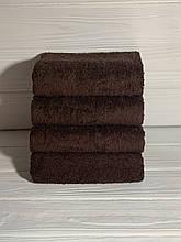 Отельное полотенце темный кофе 50х90