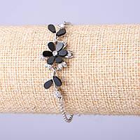 Браслет Черный цветок d-19мм L-16-19см