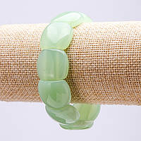 Браслет натуральный камень Оникс звено 20х18мм обхват 18см на резинке купить оптом в интернет магазине