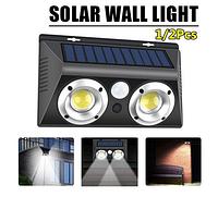 Светильник с солнечной панелью и датчиком движения Solar Powered Led Wall Light LF-1625, фото 1