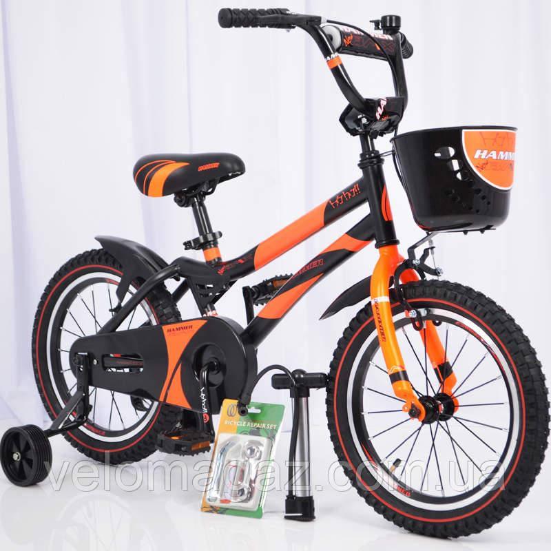 """Велосипед детский 16"""" S500 Черно-оранжевый"""