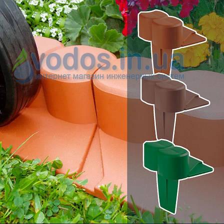 Палісад Газонний світло-коричневий 2,1 метра - декоративний садовий бордюр Palisada MIDI Plus (Польща), фото 2