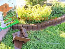 Палісад Газонний світло-коричневий 2,1 метра - декоративний садовий бордюр Palisada MIDI Plus (Польща), фото 3