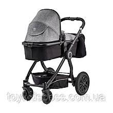 Универсальная коляска 2 в 1 Kinderkraft Veo Black/Gray (KKWVEOBLGR2000)