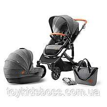 Универсальная коляска 2 в 1 Kinderkraft Prime Gray (KKWPRIMGRY0200)