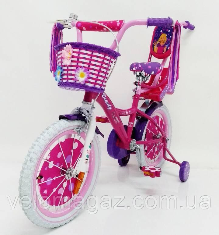 """Дитячий велосипед SIGMA """"BEAUTY-2"""" 19ВВ02-16"""" Фіолетовий"""