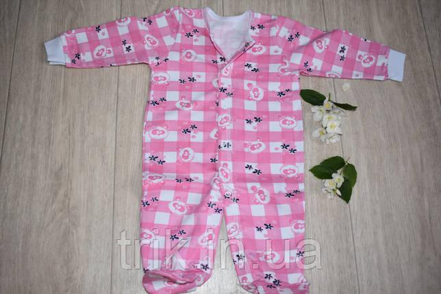 Человечек утепленный хлопковый розовый, фото 2