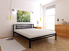 Металеве ліжко Тіна односпальне 80х190 см, ортопедична