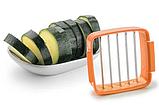 Набор для быстрого нарезания Nicer Dicer Quick 5 в 1 с контейнером овощерезка, яйцерезка Найсер Дайсер, фото 4