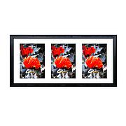 Рамка для 3 фотографий 13х18 см, паспарту, черный