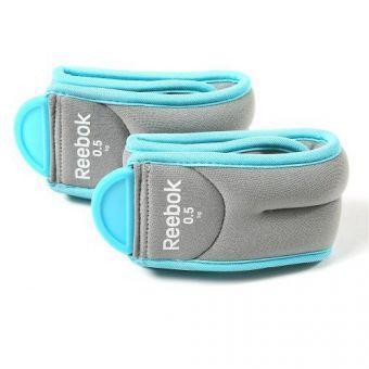 Утяжелители для ног Reebok RAWT-11074BL 1 кг  (ФИТНЕС)