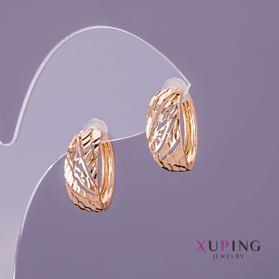 Серьги Xuping d-7мм L-17мм цвет золото