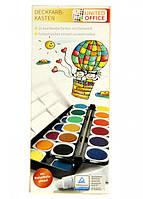 Набор красок для рисования 24 цвета UNITED OFFICE