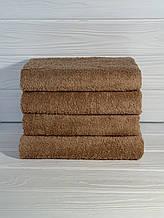 Полотенце для гостиниц светло - коричневое 50х90