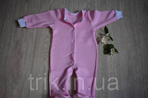 Человечек хлопковый плотный розовый полотно селяник, фото 2