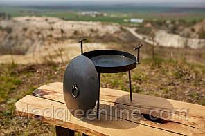 Сковородка 30 см с крышкой Буковинка