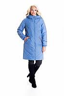 Стильная женская куртка больших размеров на молнии весна-осень размеры 42-60