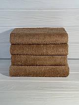 Махровий рушник для готелів сіре 50х90, фото 3
