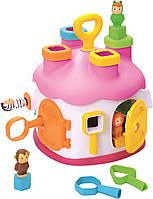 Игрушка для развития Smoby Toys Cotoons Дом с формами Розовая (211404_pink)