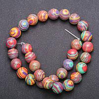 Бусины Радужные на нитке гладкий шарик d-11(+-) мм L-38см купить оптом в интернет магазине