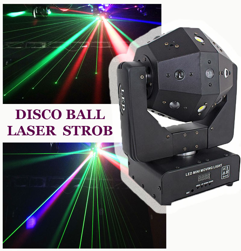 Световая голова 3в1 Moving head RGBW, лазер, стробоскоп