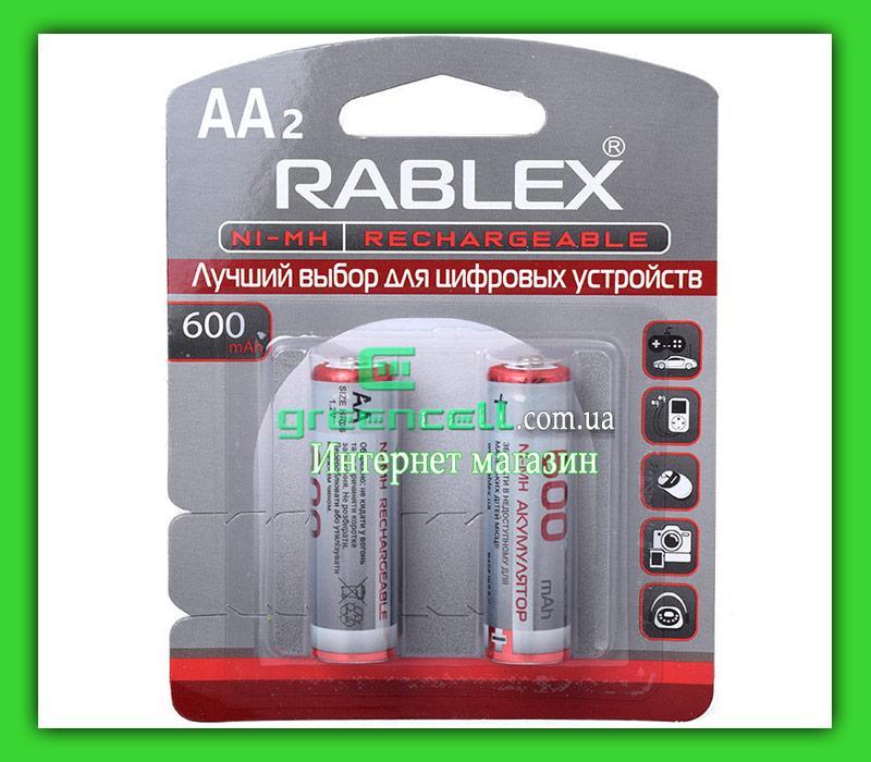 Аккумулятор Rablex R6 AA 600 mAh Ni-MH блистер