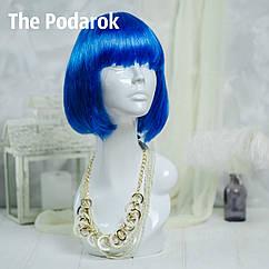 Парик Каре (синий)