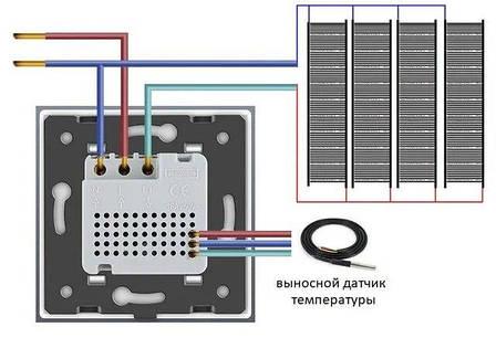 Модуль терморегулятор Livolo с датчиком температуры пола цвет золотой (VL-C7-01TM2-13), фото 2