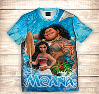 Футболка 3D MOANA AND MAUI Sea, фото 1