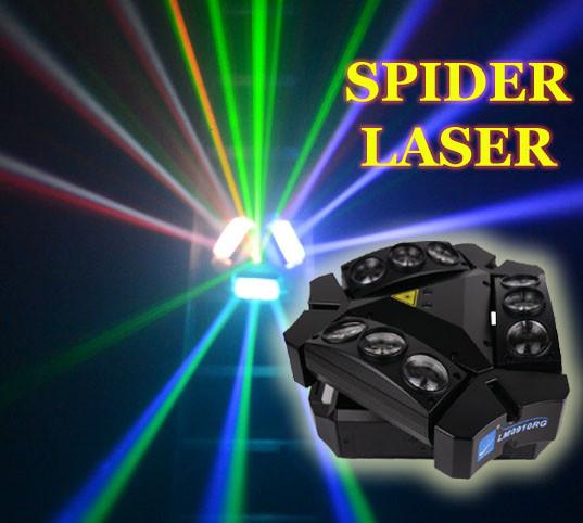 Световой прибор 2в1 Spider moving head 9x10 RGBW laser RG