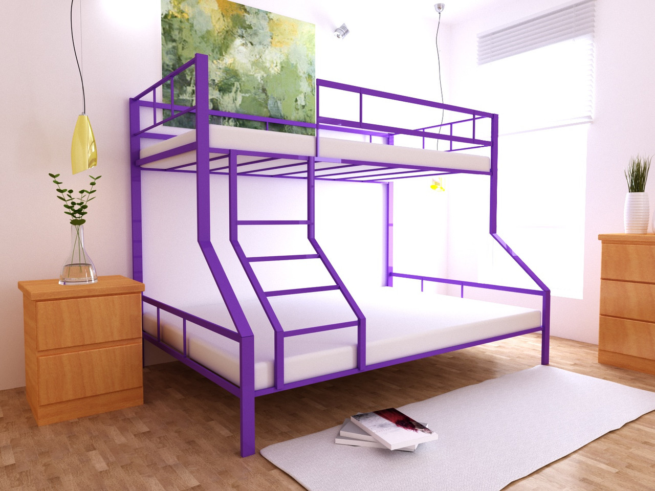 Двухъярусная кровать Тея 80х190/120х190 см ТМ MegaOpt