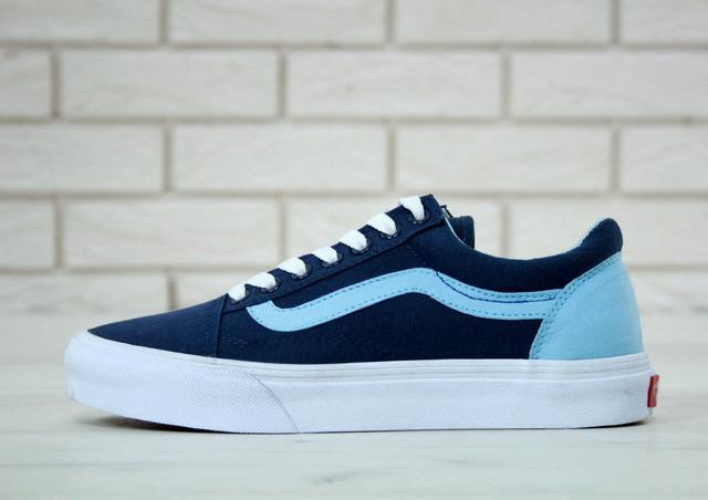 Vans Old Skool синього кольору фото
