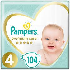 Подгузники Pampers Premium Care Размер 4 (Maxi) ( 104 шт / 9-14 кг)