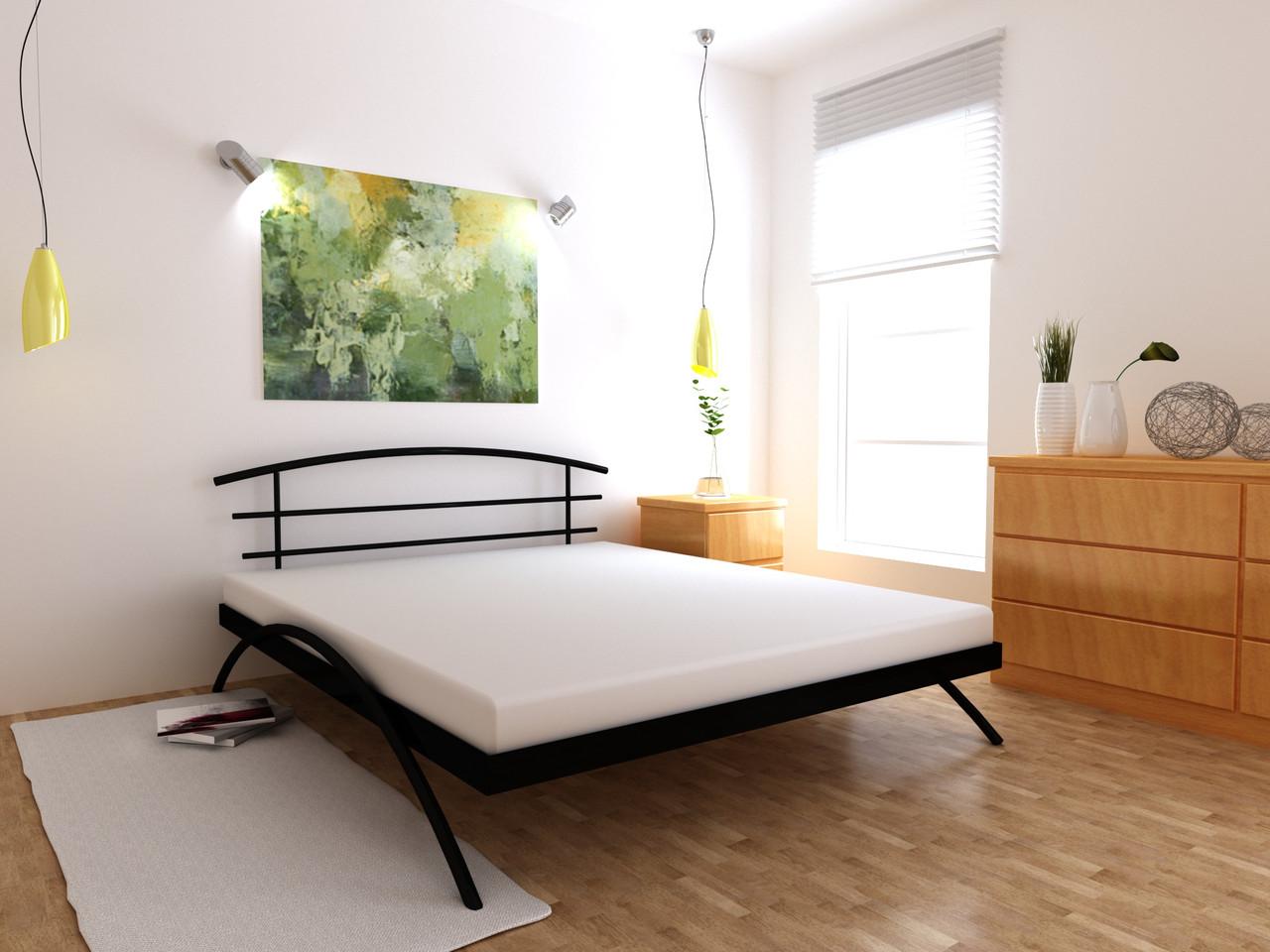 Металеве ліжко Сакура односпальні 80х190 см, ортопедична