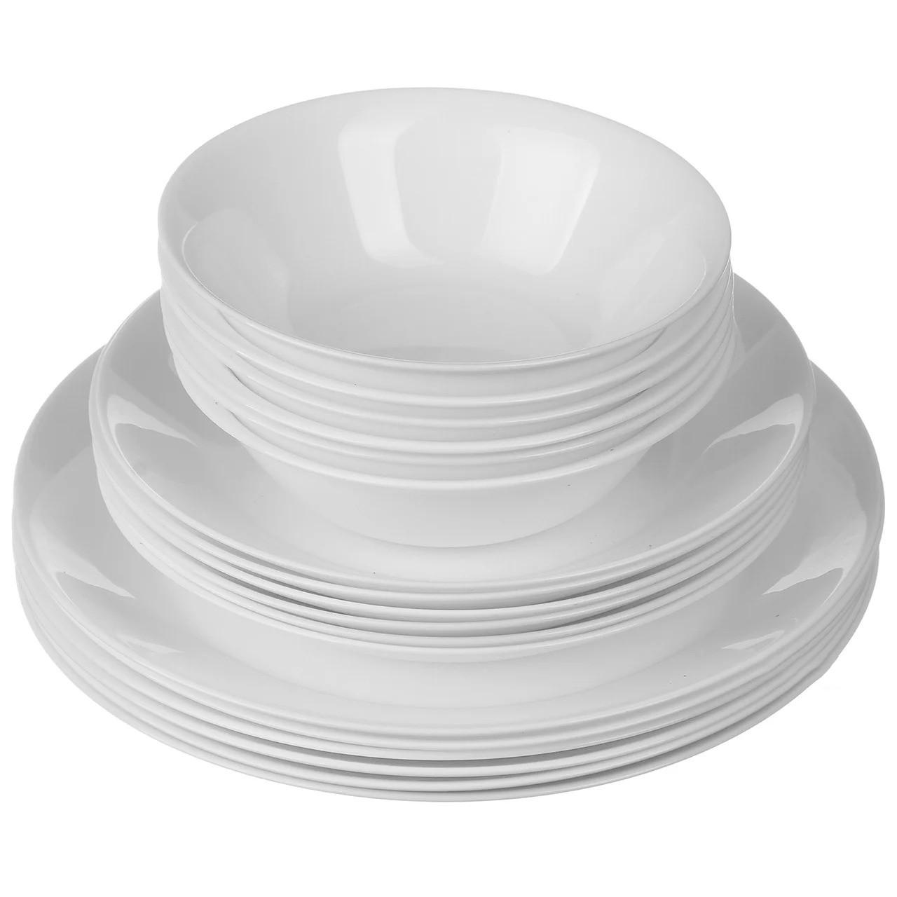 Сервиз обеденный столовый A-PLUS 18 предметов круглый на 6 персон