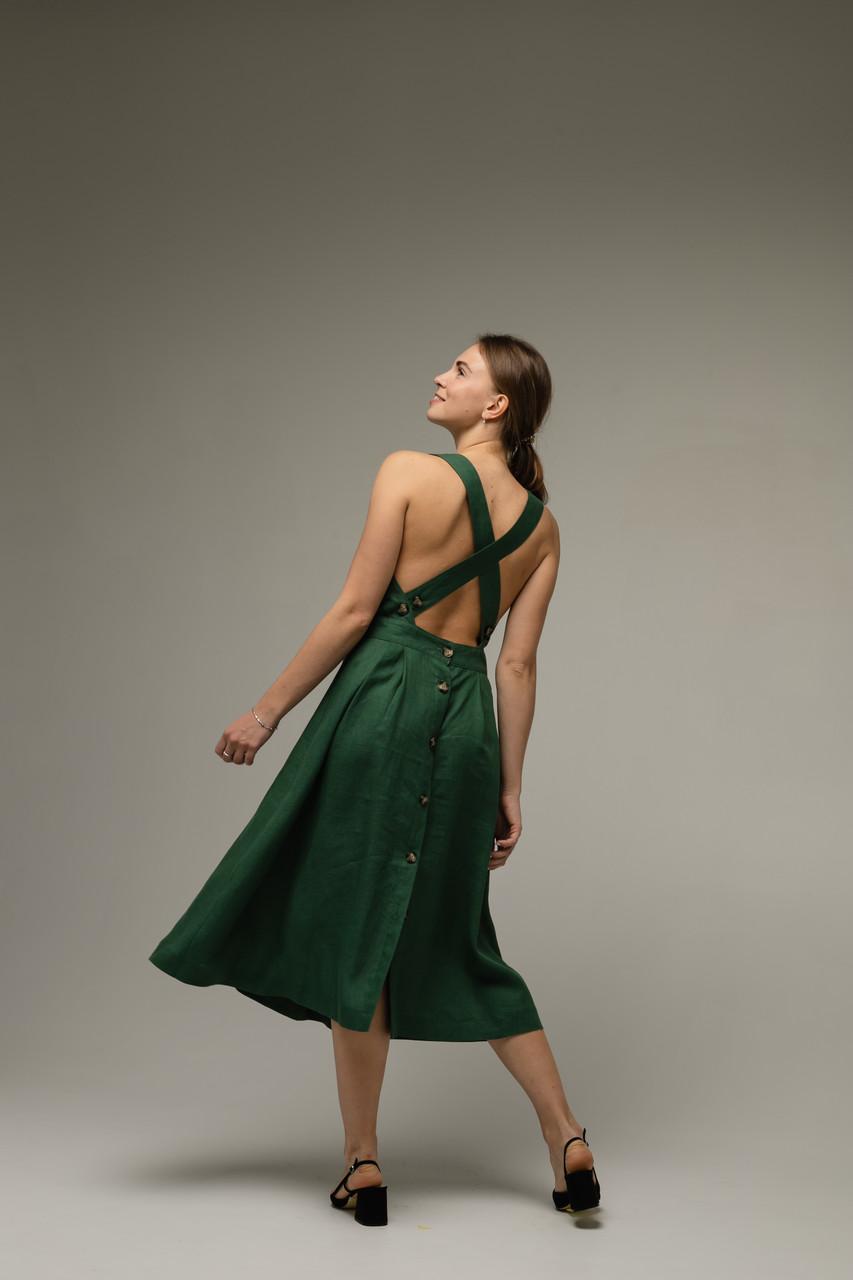 Платье-сарафан лен
