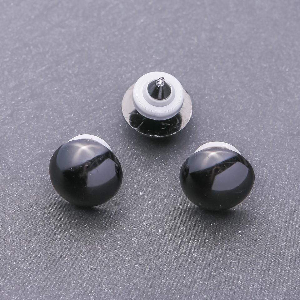 Фурнитура глазки для игрушек черные 18мм фас.50пар.