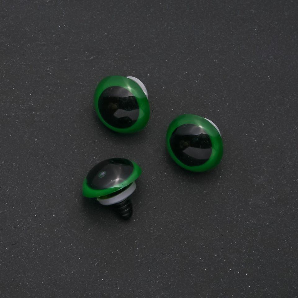 """""""Живые глазки"""" для игрушек зеленый цвет черная ножка d-18мм фас.50пар"""