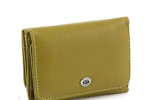 Жіночий шкіряний гаманець (4031) оливковий