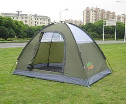 Туристическая палатка двухместная для отдыха GreenCamp, цвет серый, фото 3