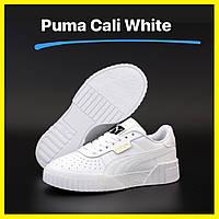 Женские кожаные кроссовки Puma Cali White (Кеды пума кали белые) 36, 37, 38, 39, 40, 41