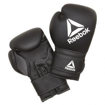 Боксёрские перчатки Reebok RSCB-12010BK 14oz черный  (ФИТНЕС)
