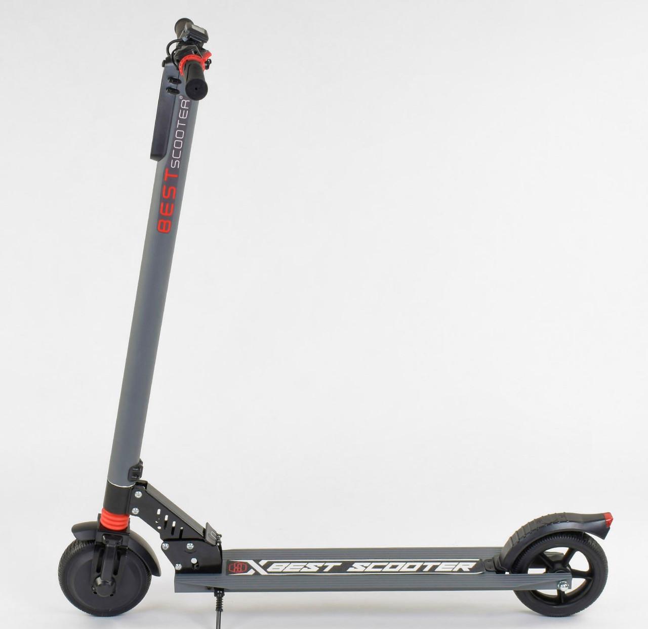 "Электросамокат 83325 (1) ""Best scooter"", колеса 6,5"", цвет СЕРЫЙ Гарантия качества Быстрая доставка"