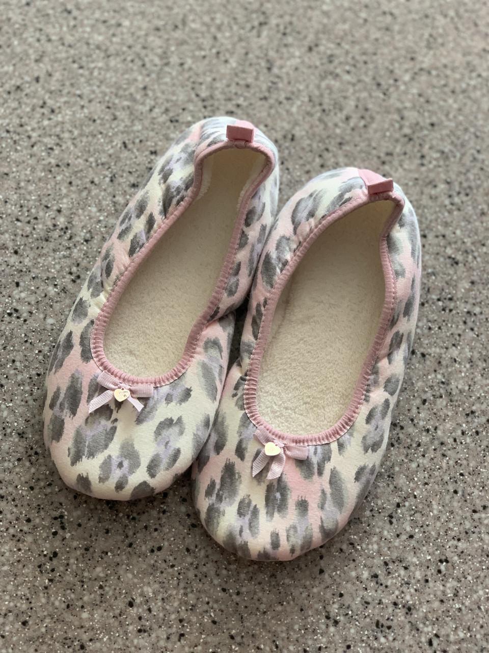 Тапочки  Victoria's Secret нежно-леопардовые