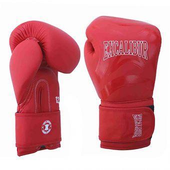 Перчатки боксерские Excalibur 8046-02 Cobra  красный/белый  (ФИТНЕС)