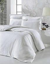 Комплект постельного белья жаккард Tм Victoria 200*220 Valeria white