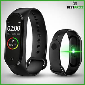 Часы, фитнес браслет Smart bracelet M4 Чёрный