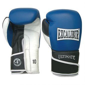 Перчатки боксерские Excalibur 551-03 Ultimate  синий/белый/черный  (ФИТНЕС)